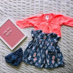 Carter's Newborn Baby Girl Dress Set